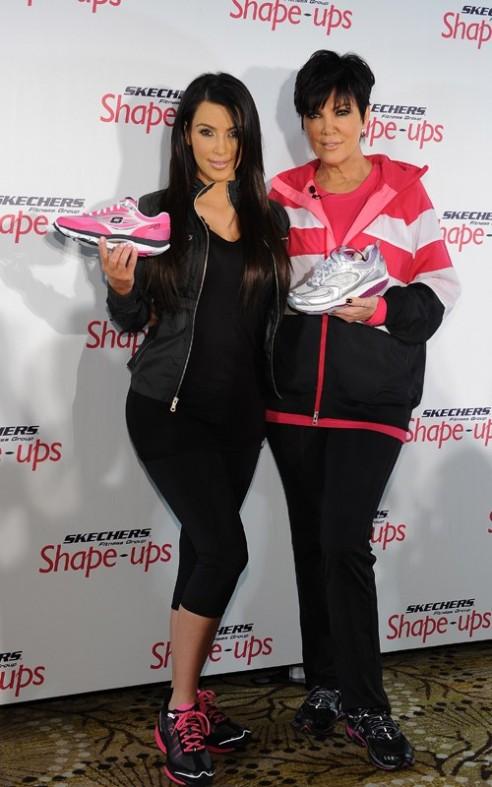 Gift Ideas Kim Kardashian And Mom Kris Jenner New Faces For Skecher Shape Up S Heaven On Earth