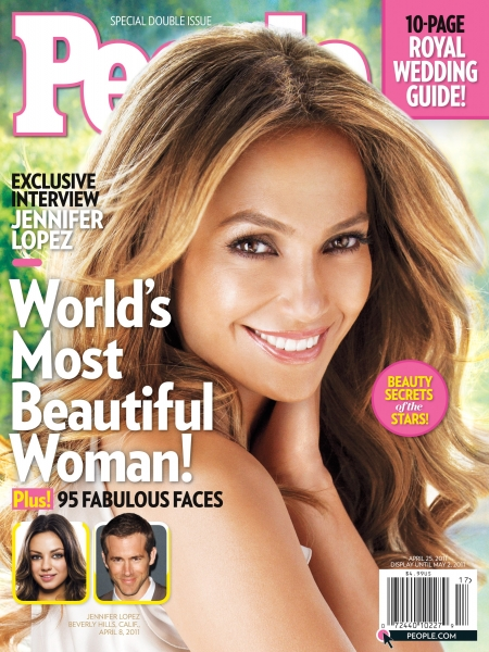 jennifer lopez la plus belle femme au monde pour l'année 2011
