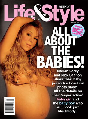 Life&Style-Mariah-Carey-Baby-Bump-Cover