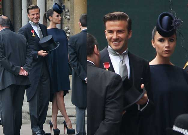 victoria beckham royal wedding. Celebrity Style: David Beckham
