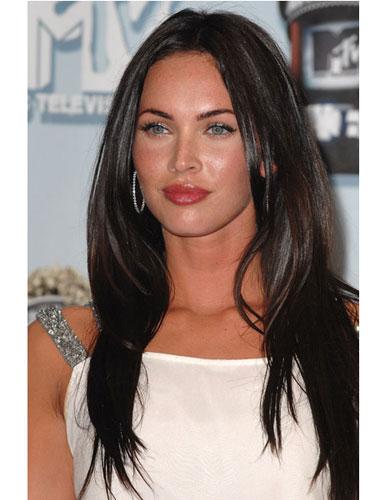 Megan Fox Dark Long Hair Heaven Earth