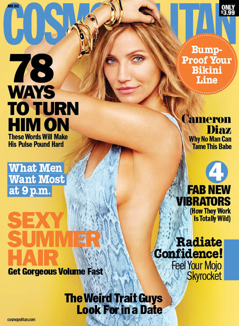 cameron diaz cosmopolitan photos. Cameron Diaz Shows Her Sexy