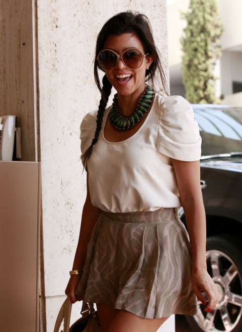 Kourtney Kardashians Outfit Style Of The Day Mixing Her Fashion Brands Heaven On Earth