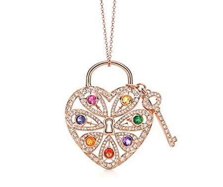 Tiffany filigree heart pendant in 18k rose gold with diamonds tiffany filigree heart pendant aloadofball Choice Image