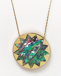 House-Of-Harlow-1960-Sunburst-Abalone-Pendant-Necklace-200293A