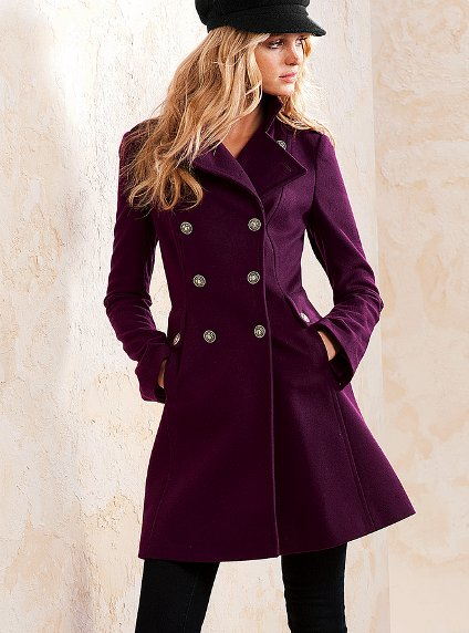 Wool Military Lace Up Coat